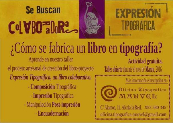 cartel colaboración técnica